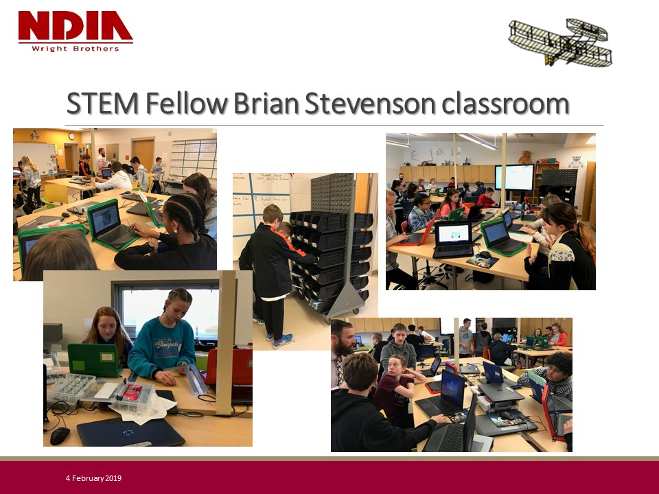 Wright Brothers Regional Chapter - STEM Fellow Brian Stevenson's Classroom