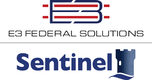E3 Federal Solutions and Sentinel Logo