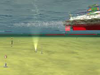 Undersea Sensors; Image of a undersea vessel traversing clear waters