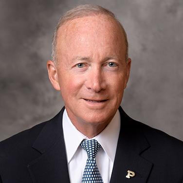 Headshot of Mitch Daniels president of Purdue University
