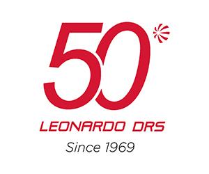 Leonardo DRS 50th Anniversary logo