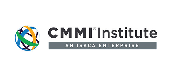 """Logo for CMMI; image of a sphere-like object on the left. There's crisscrossing yellow, blue, green, and black lines within the sphere. On the right are the words: """"CMMI Institute: An ISACA Enterprise"""""""