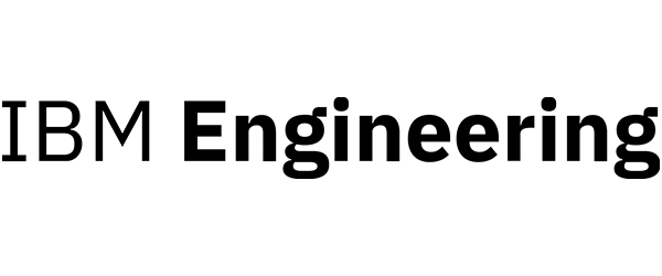 """IBM Logo: Image of the words """"IBM Engineering"""" (with """"Engineering"""" in bold) with black text on white background."""