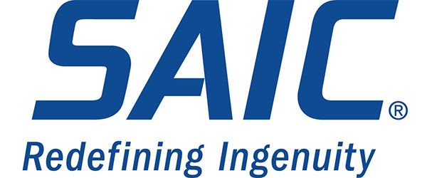 "Image of SAIC logo; in all blue, the words ""SAIC"" are written. Below that are the words: ""Redefining Ingenuity"", also in blue."