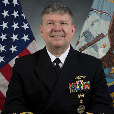 Headshot of RADM Thomas E. Ishee, USN, Director, Undersea Warfare Division Office of the Chief of Naval Operations, N97