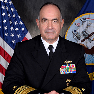 "Headshot of VADM Charles A. ""Chas"" Richard, USN, Commander, Submarine Forces"