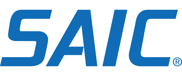 "SAIC Logo; the word ""SAIC"" in blue on a white background."