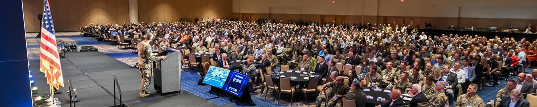 Picture of the General Session Keynote from 2019 SOFIC