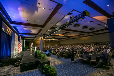 Picture of the General Session Keynote from 2018 SOFIC