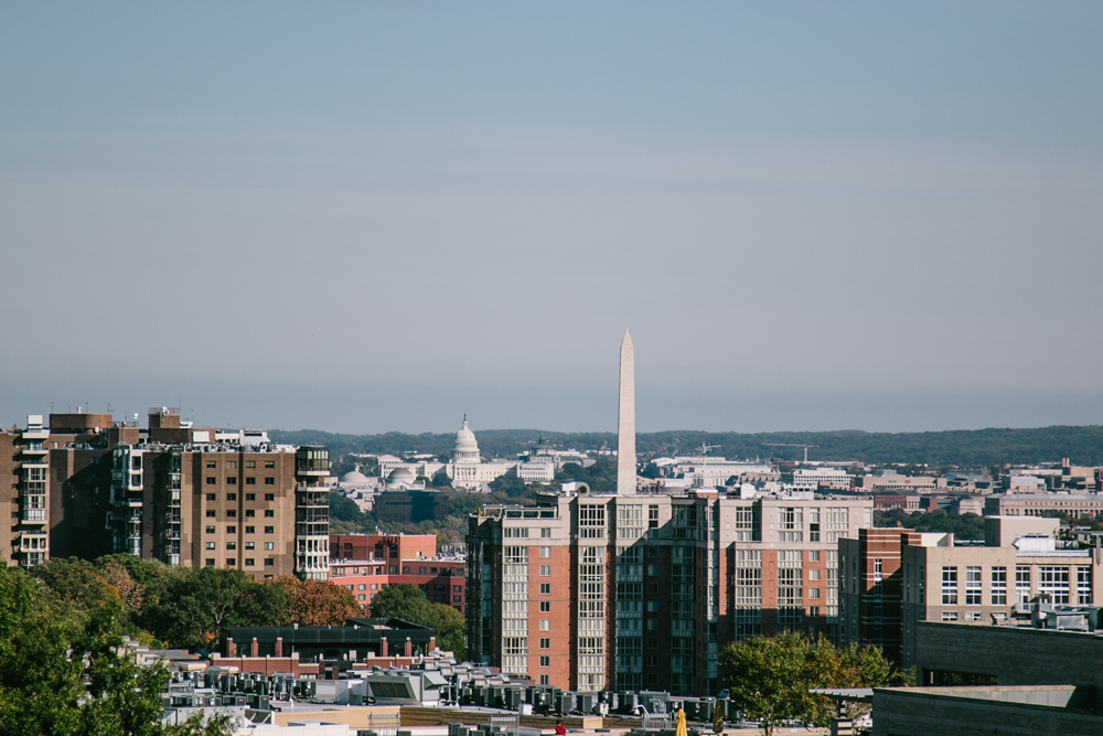 View of Washington DC from Eisenhower Conference Room