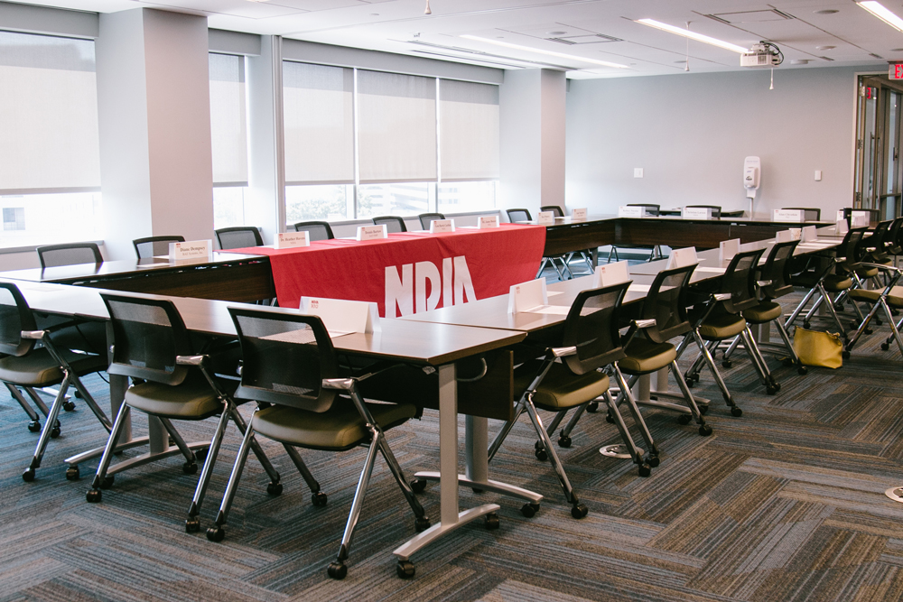 Picture of NDIA Eisenhower Conference Room setup in Hollow Square Style