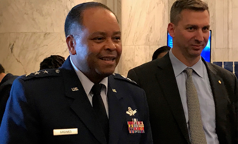 Lt. Gen. Samuel Greaves and Wesley Hallman