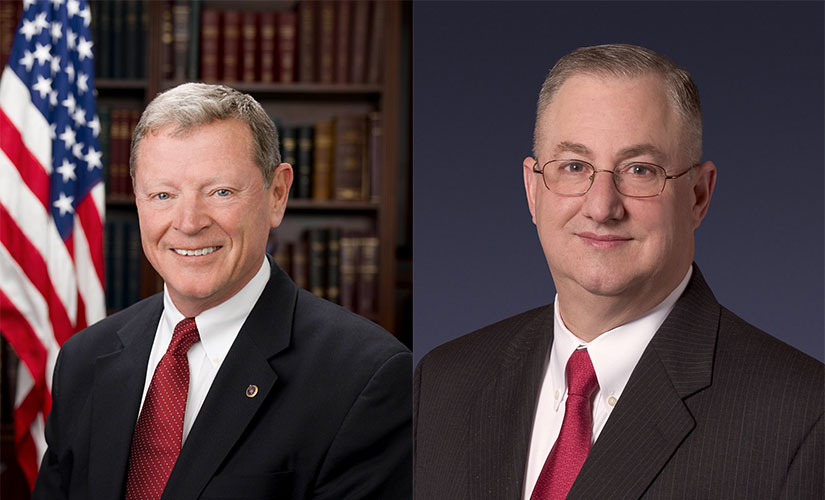Sen. James Inhofe (R-OK) and Arnold Punaro